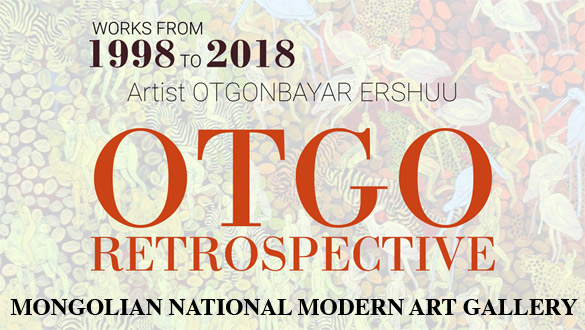 OTGO retrospectiva at Mongolian National Modern Art Gallery